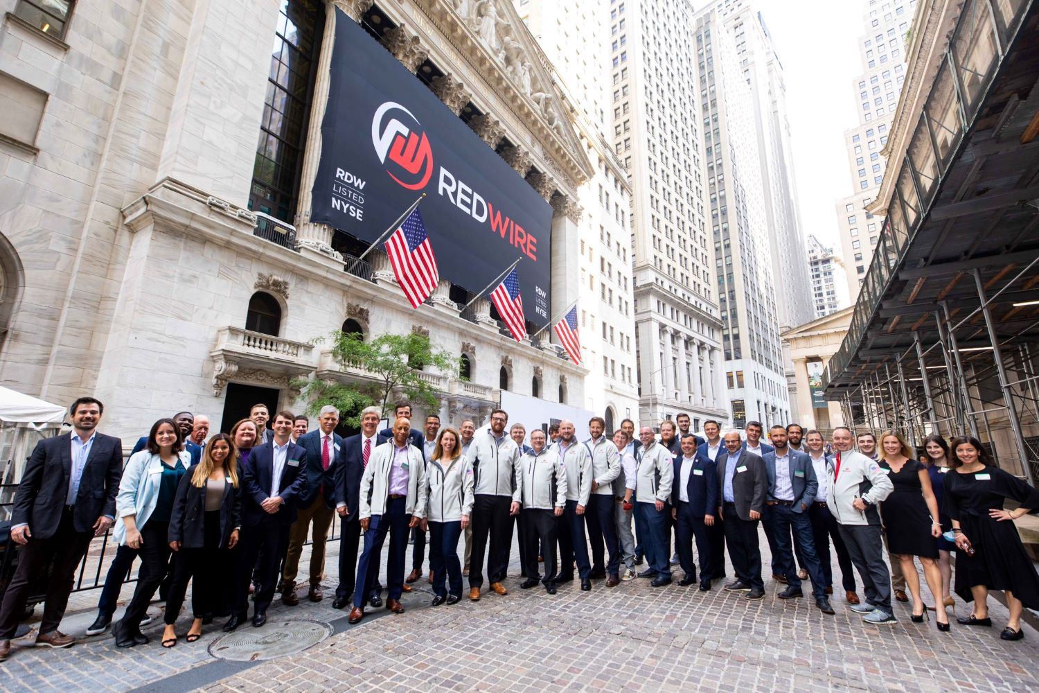 Redwire Space leadership team at the NYSE on IPO date