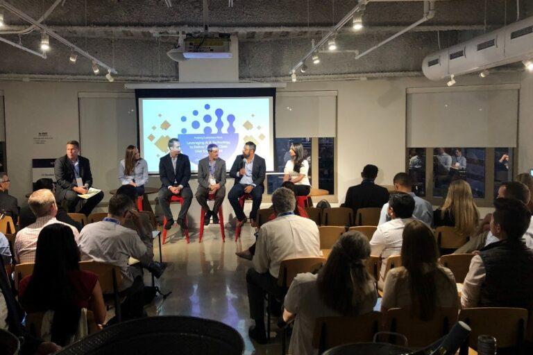 Ocrolus CEO speak in a fintech event