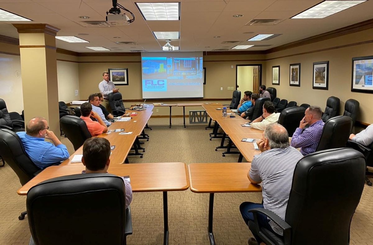 FL Crane & Sons staff in a training session