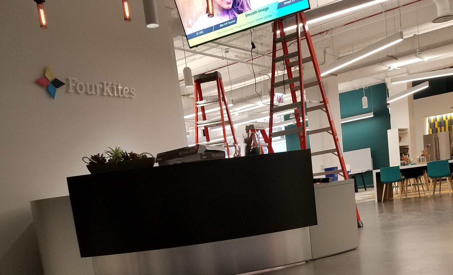 FourKites front desk at the head office