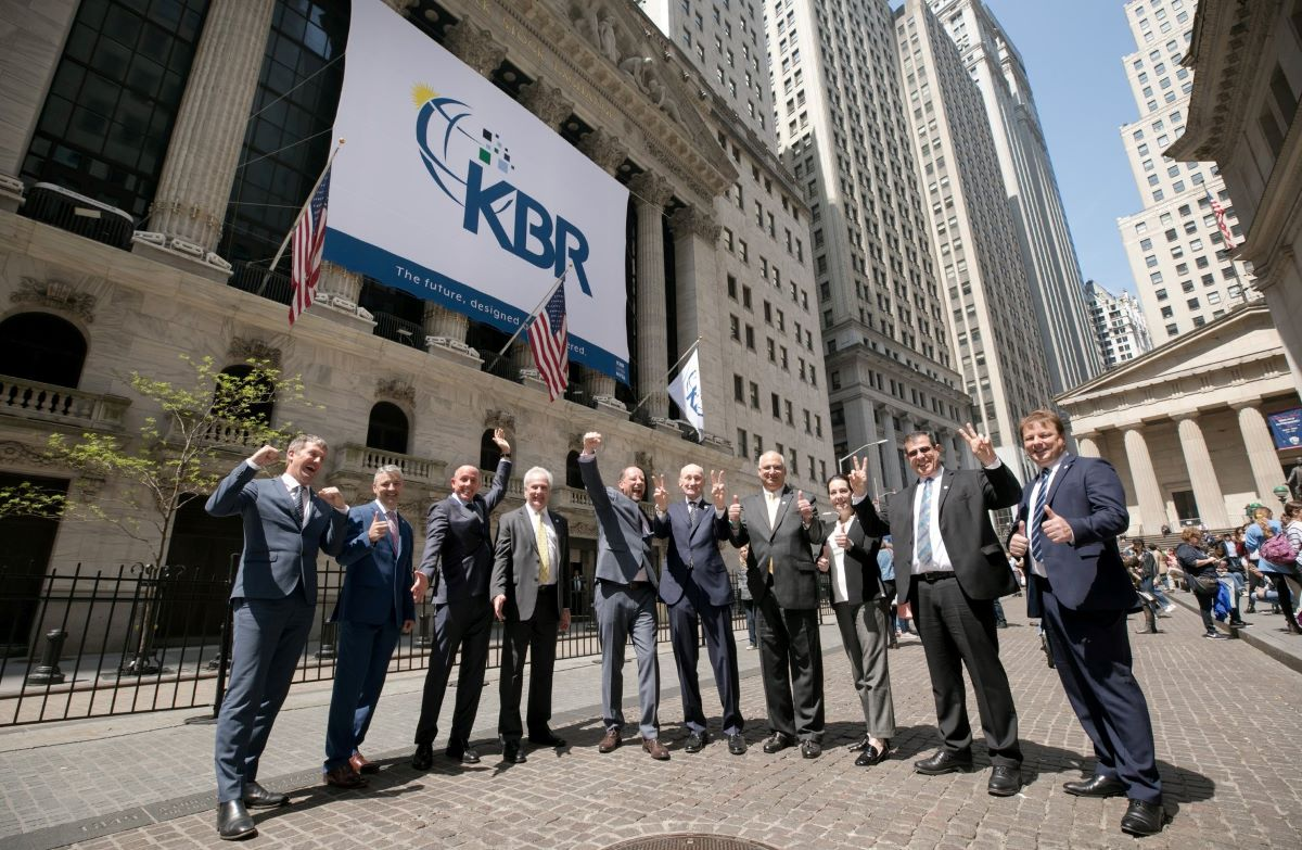 KBR leadership team celebrate at the NYSE
