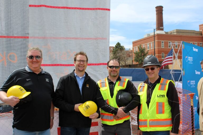 LPR Construction leadership team present at Denver Health project