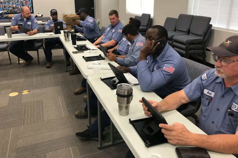 Polk Mechanical staff in a training session