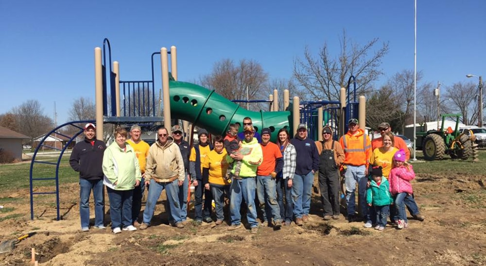 The Korte Company staff in a recreational park project